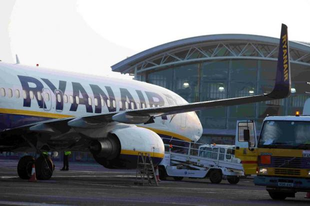 IN-FLIGHT: The incident happened on a Ryanair flight