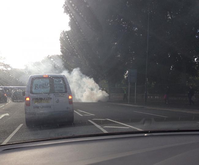 Car burst into flames at Cemetery Junction