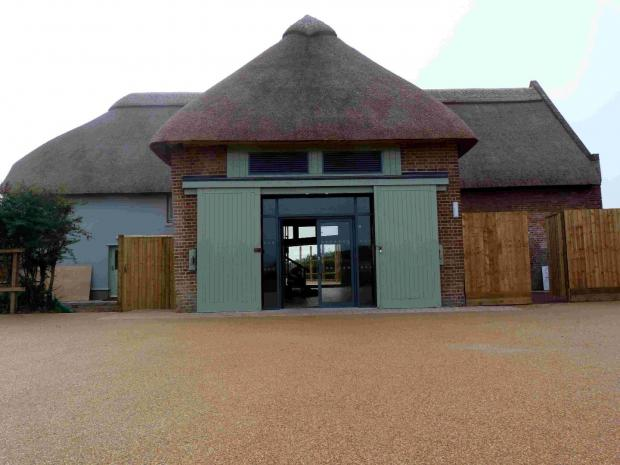 Bournemouth Echo: MOVING QUICKLY: The new Hengistbury Head visitor centre, which is on track to open in December 2013