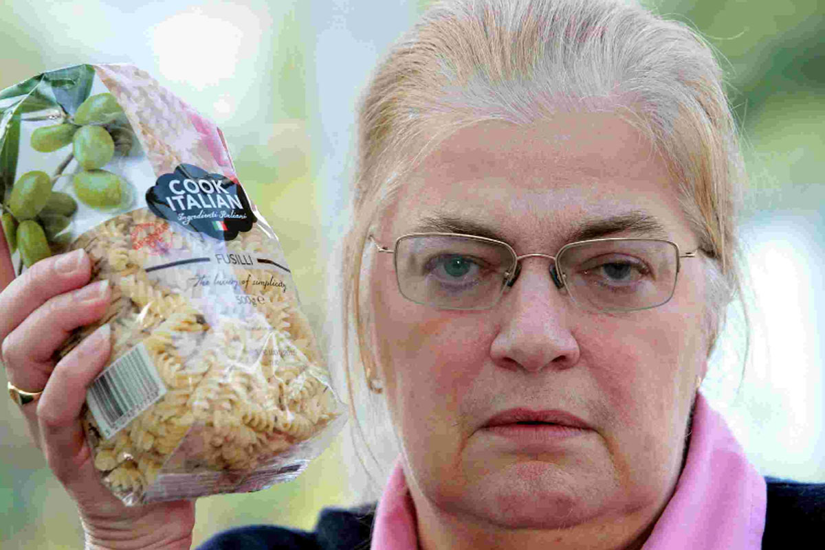 GRIM DISCOVERY: Mary Randall bought a packet of dried pasta with weevils in it