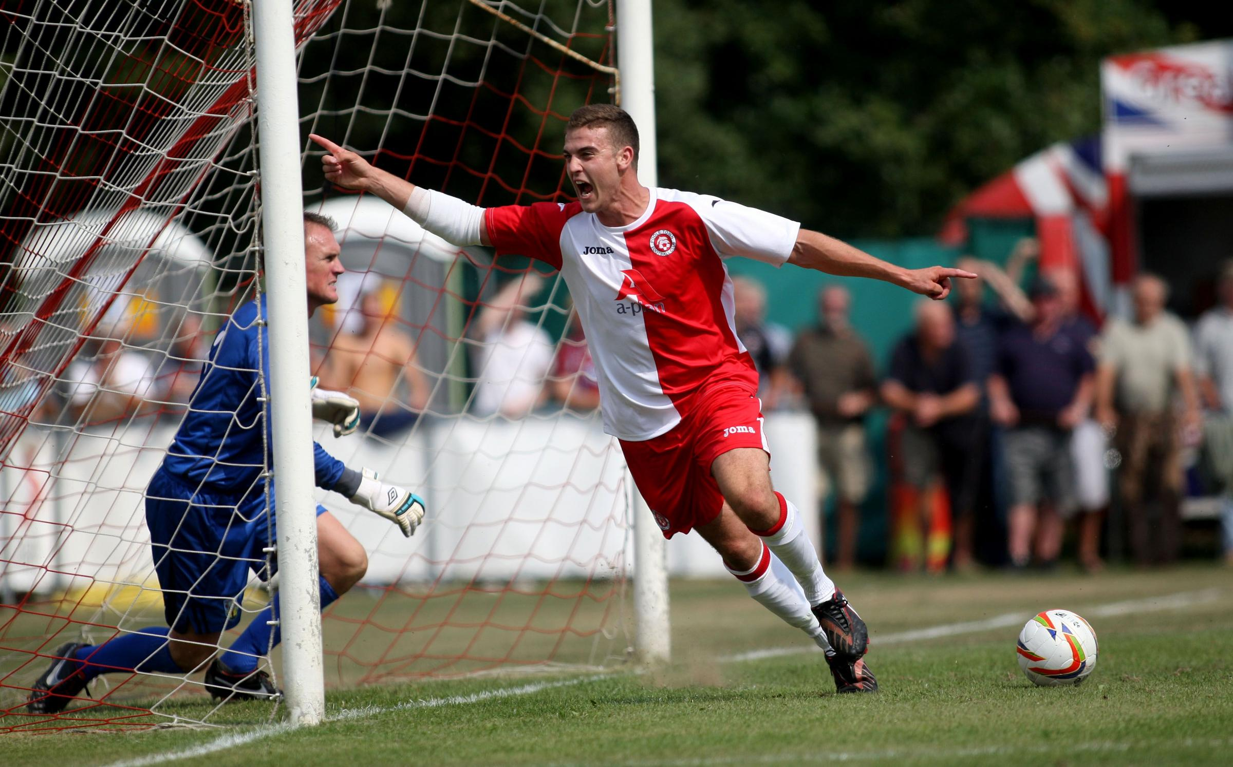GOAL: Poole Town defender Will Spetch