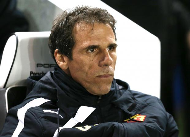 Bournemouth Echo: GONE: Gianfranco Zola left Watford in December