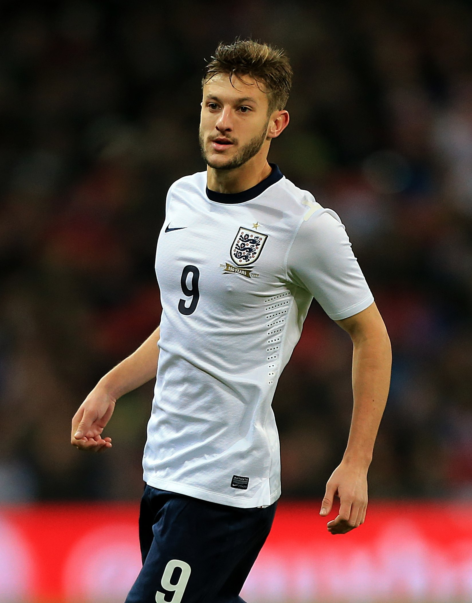 Saints skipper Adam Lallana in action for England