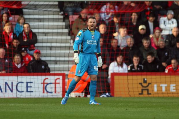 THIGH INJURY: Cherries goalkeeper Lee Camp