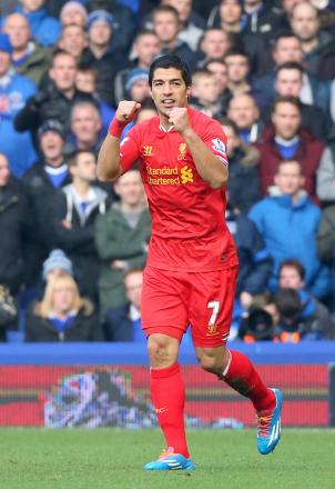 SIMPLY THE BEST: Reds in-form striker Luis Suarez