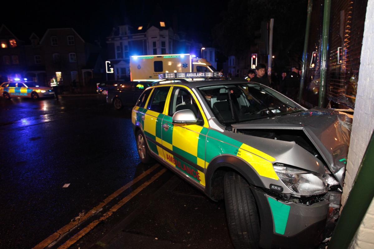 Diner seriously injured after ambulance car crashes into Koh Thai ...