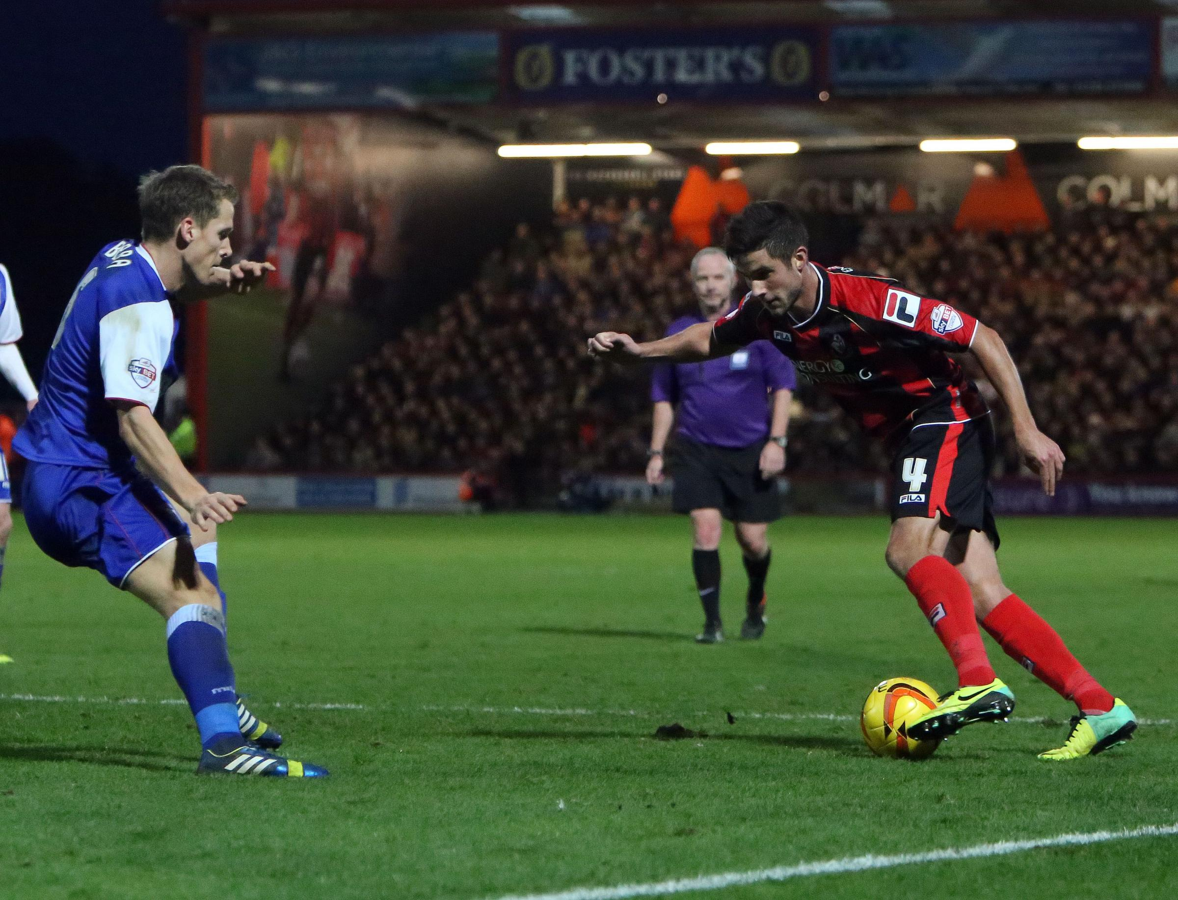 CUP QUEST: AFC Bournemouth's Andrew Surman (right)