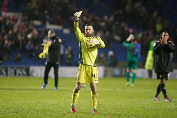 THUMBS UP: AFC Bournemouth goalkeeper Lee Camp