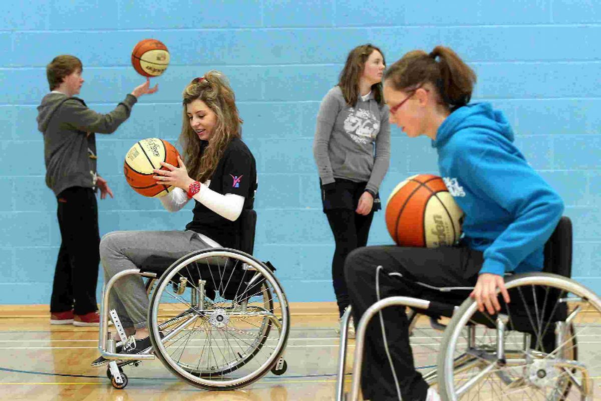 The Grange School pupils try out w