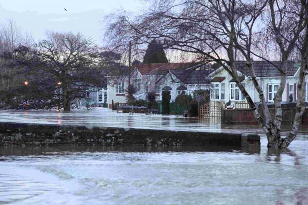 Bournemouth Echo: Iford Bridge after the Christmas deluge