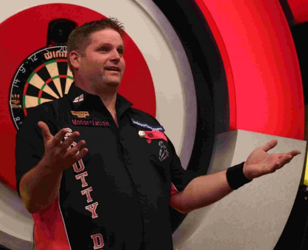 DARTS STAR: Scott Mitchell