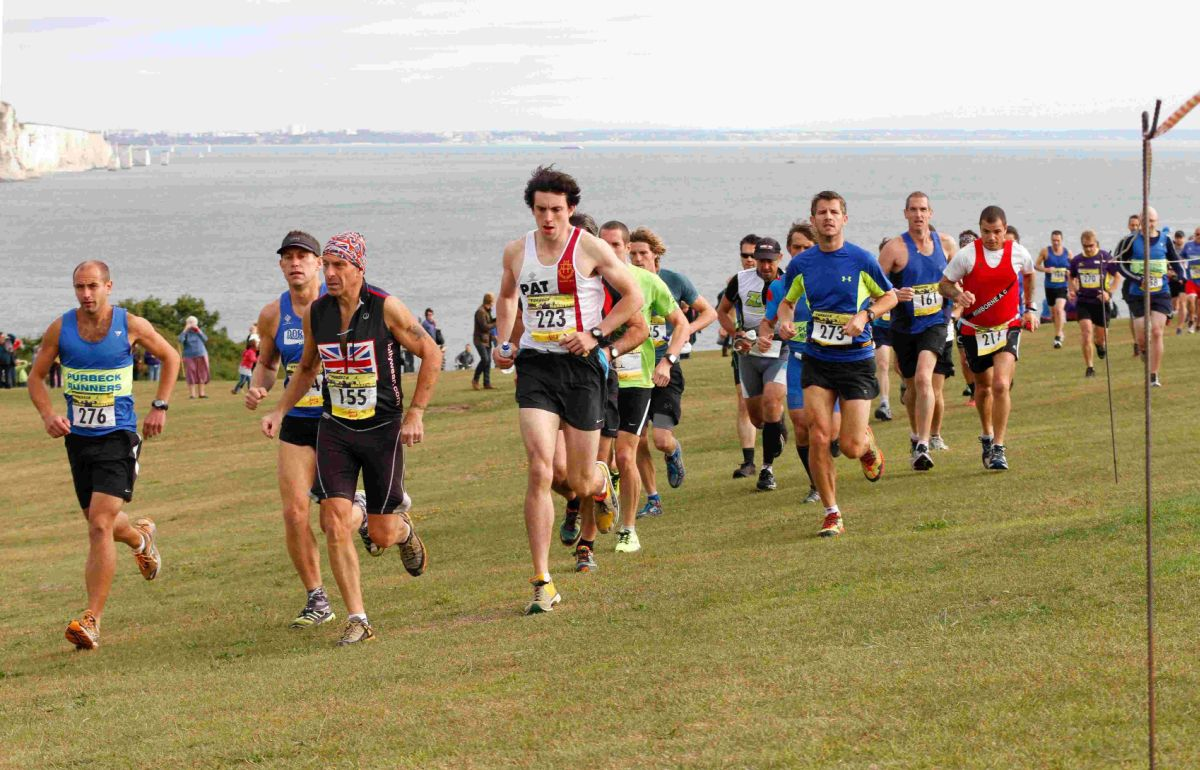OFF ON THE RIGHT FOOT: Runners set off from Swanage
