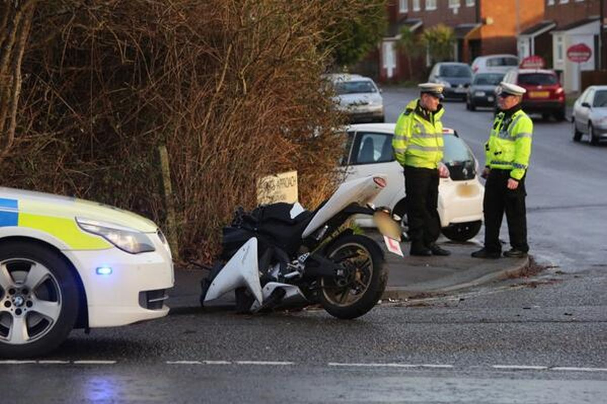 UPDATE: Poole Road in Upton reopened after crash between motorcycle and car