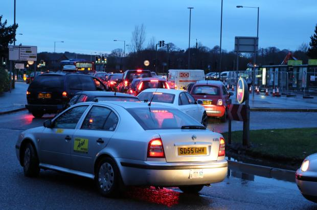 Drivers warned they face long delays on Castle Lane East again