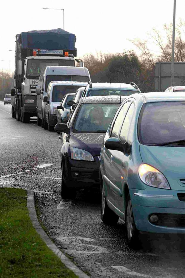 Bournemouth Echo: GRIDLOCK: Traffic queues