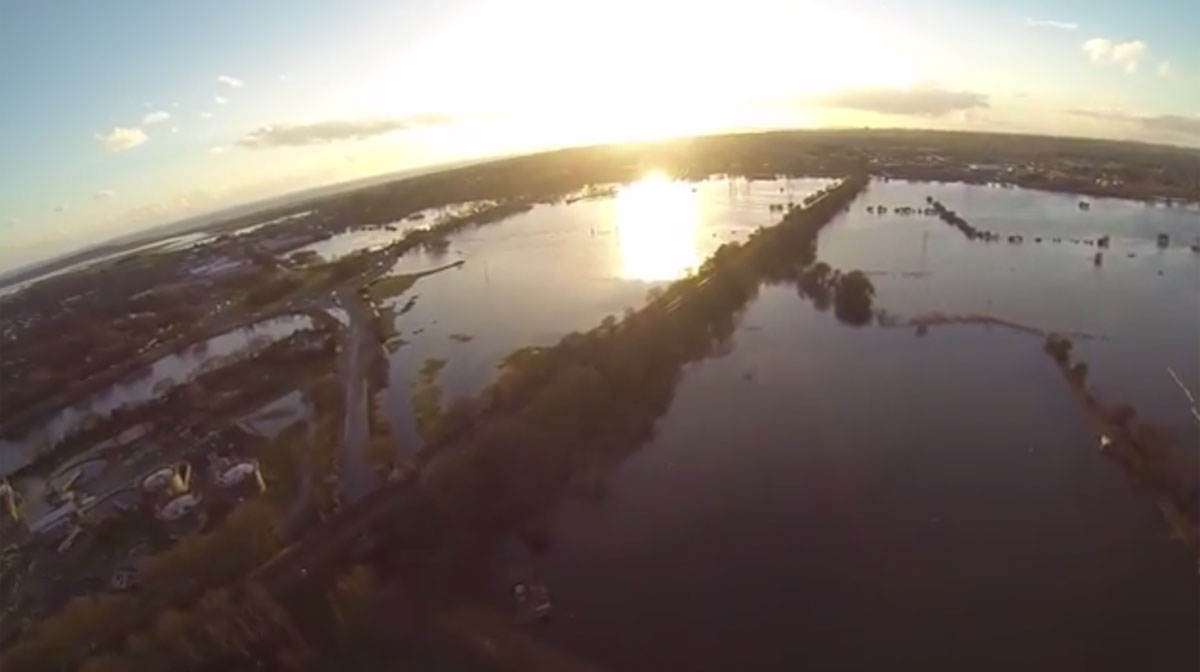 VIDEO: Aerial drone captures full scale of Stony Lane floods