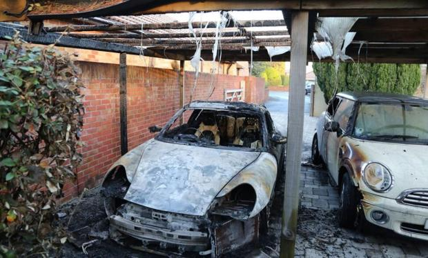 Porsche destroyed in arson attack