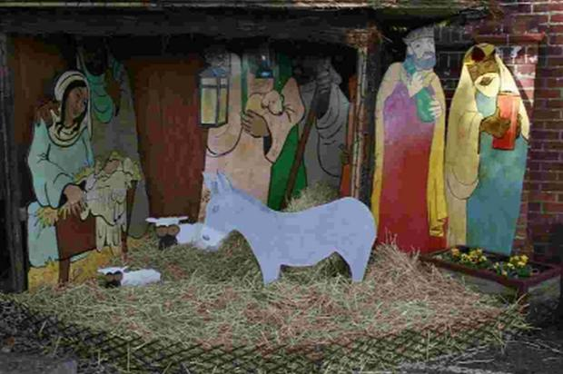 Bournemouth Echo: CALL: A plywood donkey and sheep have been stolen from Ferndown United Church's Nativity scene