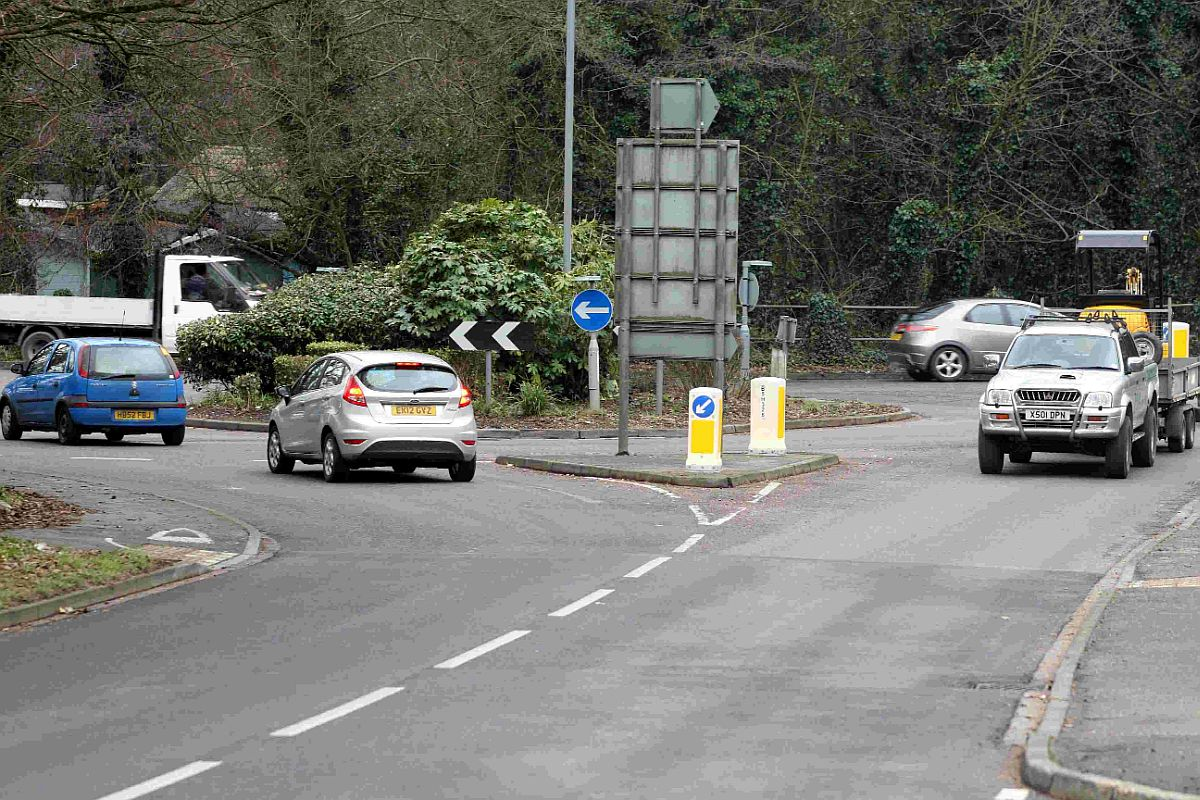 BACK TO DRAWING BOARD: Hurn roundabout near Bournemouth Airport