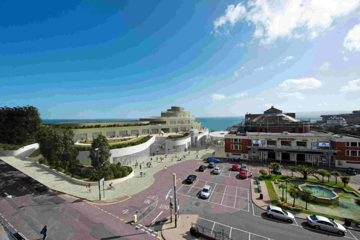 FUNDING CRUNCH: A computer generated image of the proposed Nautilus leisure scheme