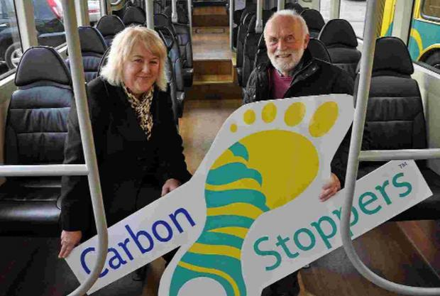 Cash boost: Peter Jennings receives the Carbon Stoppers donation to the Sparkle Appeal