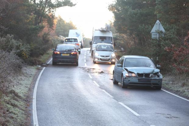 Bournemouth Echo: Drivers urged to take care on Avon Causeway due to icy road