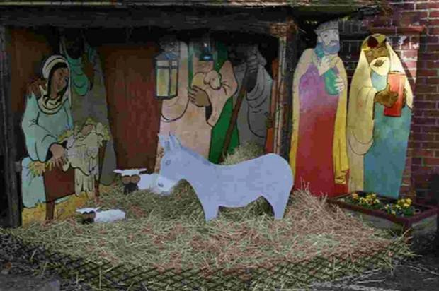 STOLEN: A donkey and sheep were taken from Ferndown United Church's Nativity