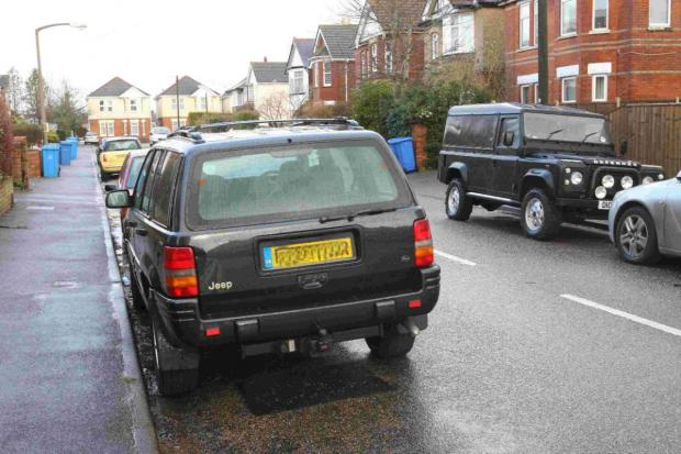 Bournemouth Echo: DOZY PARKER: An untaxed Jeep in Chatsworth Road