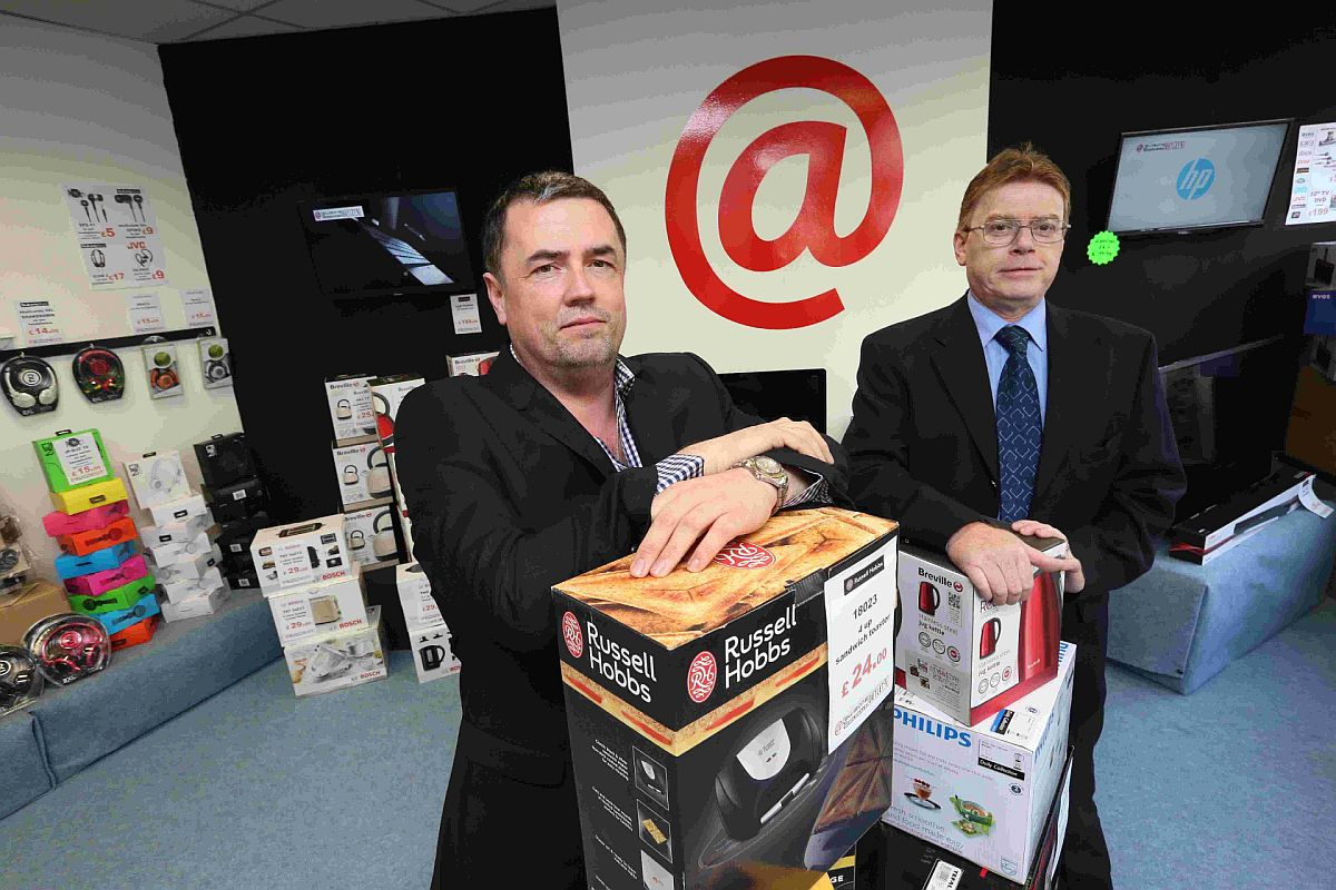 new venture: Clive Coombes, CEO, left, and Graham Groves, operations director, of Lewisons Electrical Retail