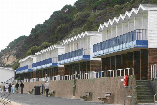 Poole beach huts at Branksome Chine