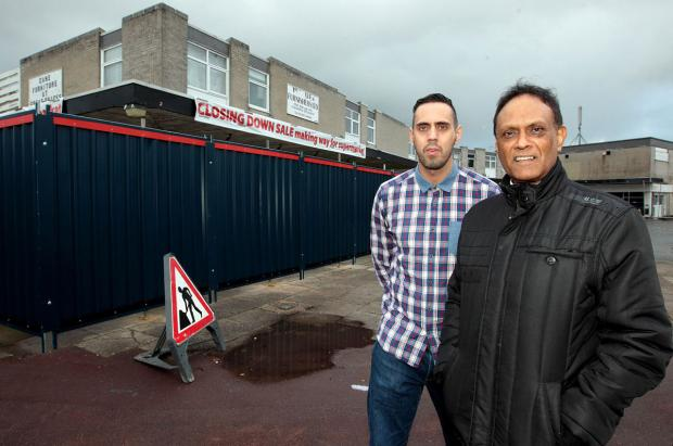 QUIETLY CONFIDENT: Ramesh Lal and Adam Jacobs from Kinson Business Forum at the development site