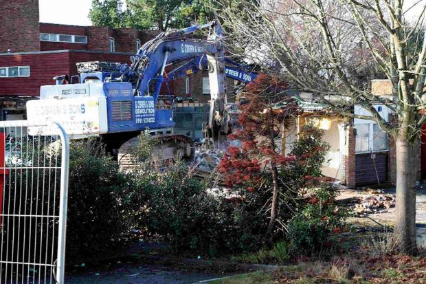 Demolition work begins on Fourways Day Centre in Poole