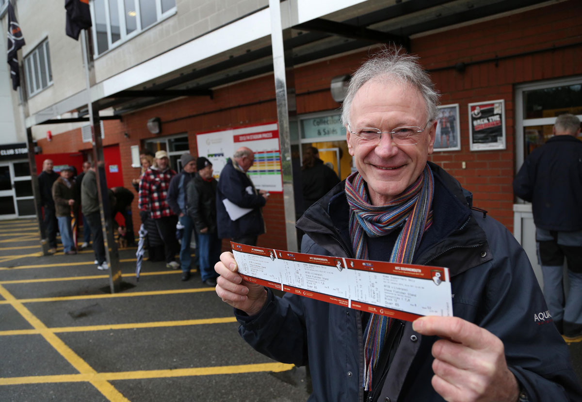 Bring it on, Liverpool! Cherries fans queue for FA Cup clash tickets