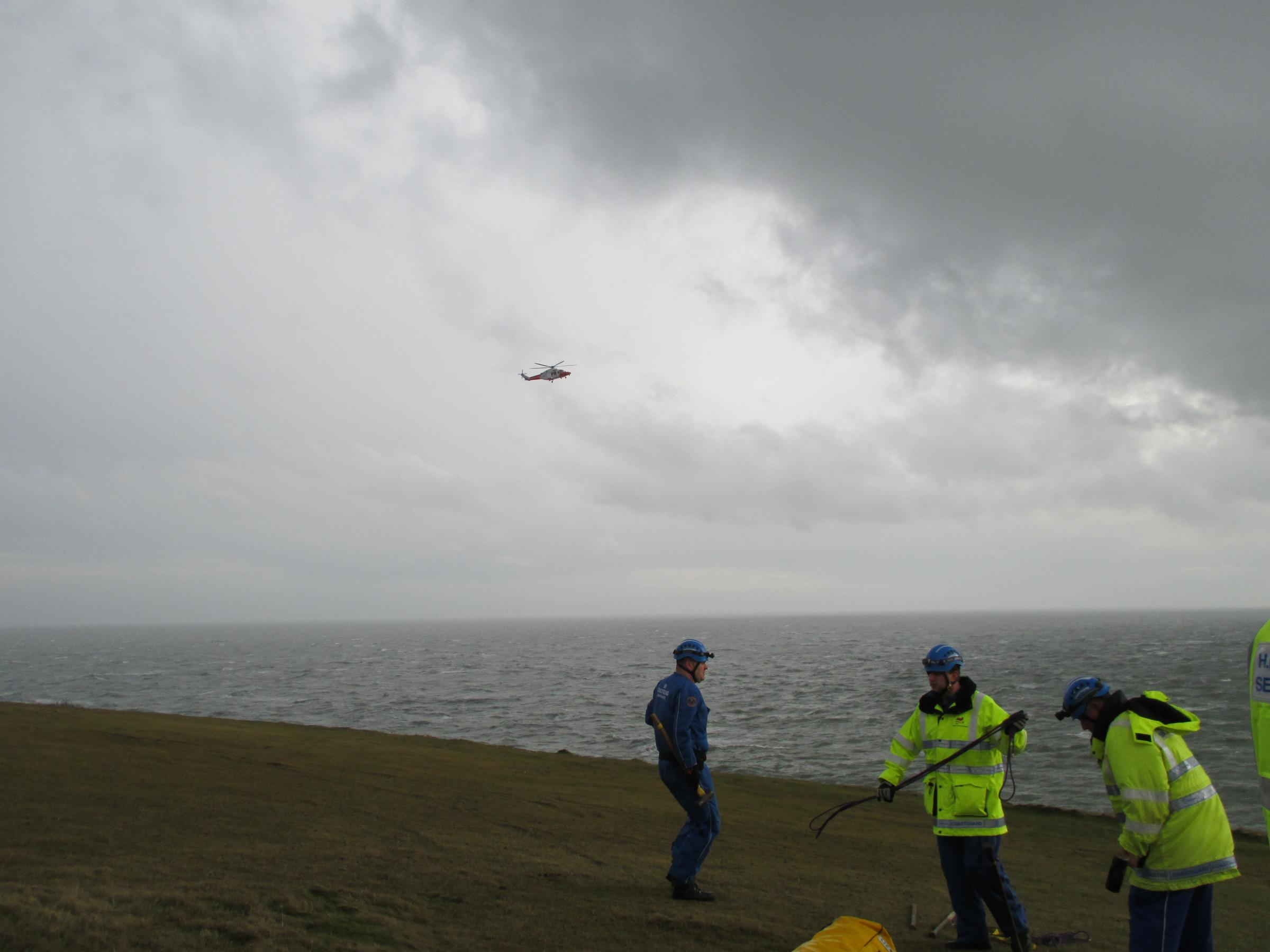 Climber in trouble airlifted to safety by Coastguard helicopter