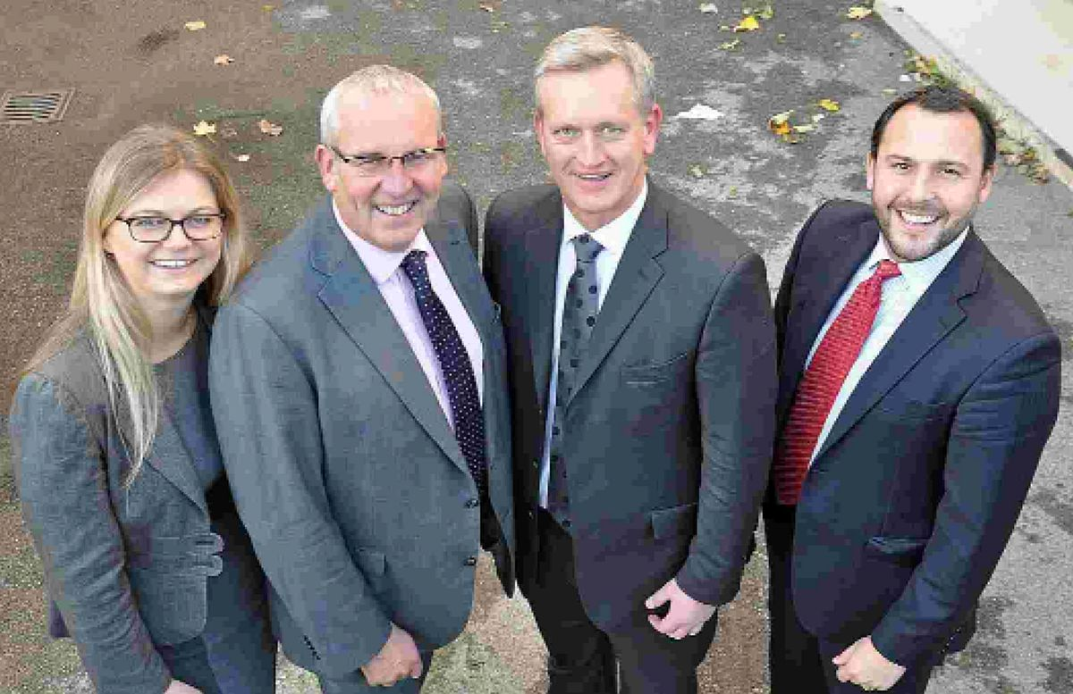 NEW ROLES: Nigel Smith, managing partner,  second left, with new Partners Lauren Day, Tim Sharpley and William  Fox Bregman