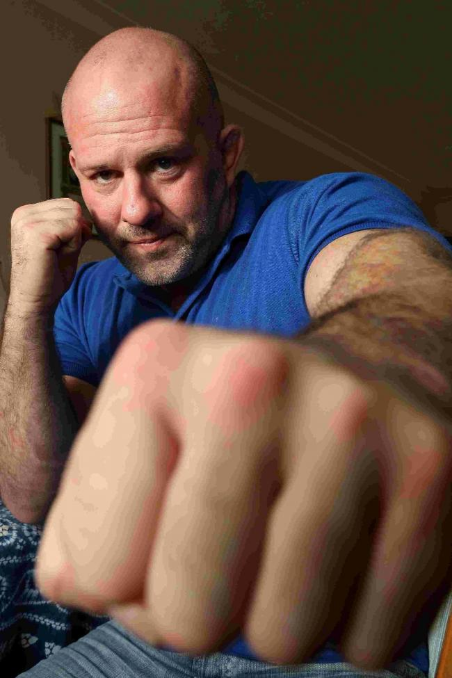 PASSIONATE: Steven Murphy, former doorman and cage fighter who has directed a new feature length film called Doorways