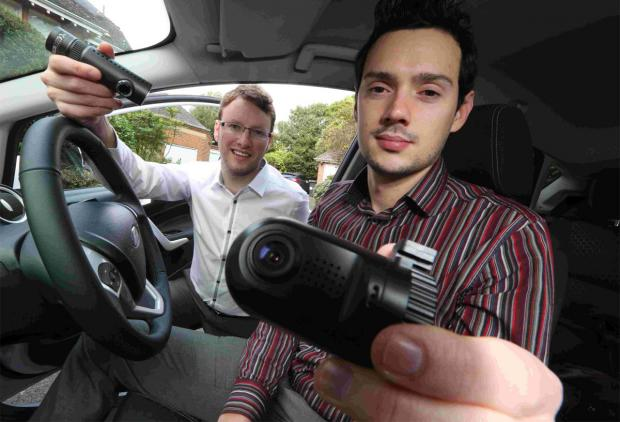 NEW VENTURE: Business partners Andy Crathorne and Ian Bellamy who have set up the Car Camera Shop