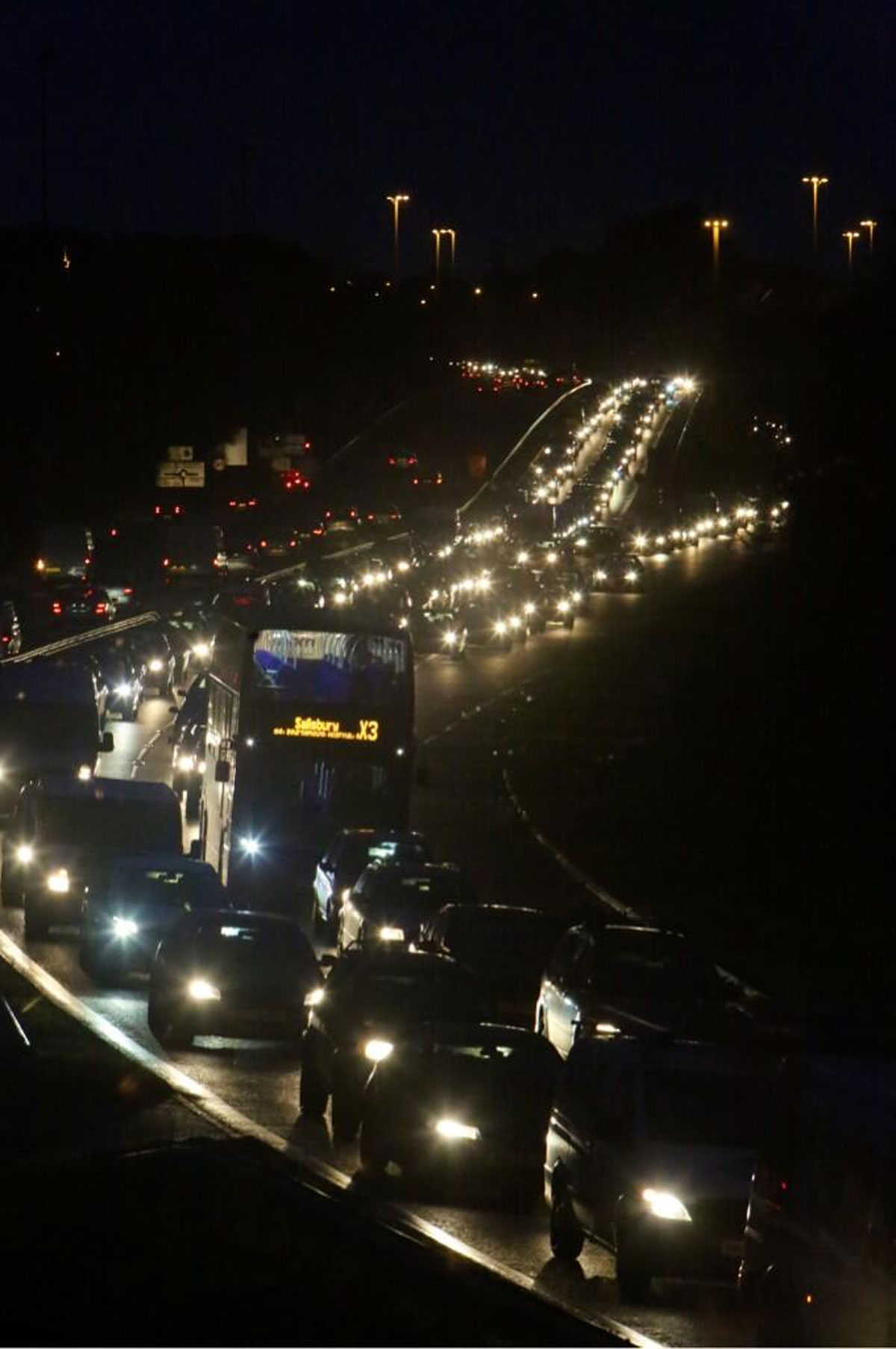 Delays on A338 northbound after collision closes one lane