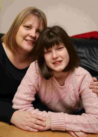 PETITION: Jackie Horne with her daughter Emily