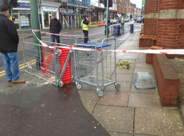 Tesco store in Westbourne closed due to fallen masonry