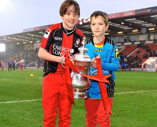 HOLDING COURT: Siblings Louis and Finn at Dean Court