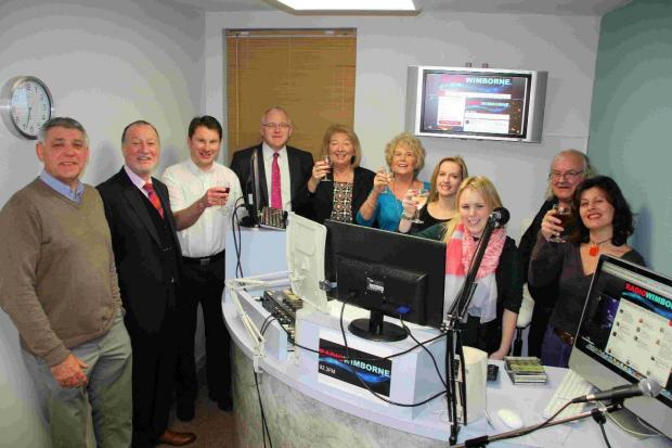 BROADCAST: Community leaders and volunteers at Radio Wimborne