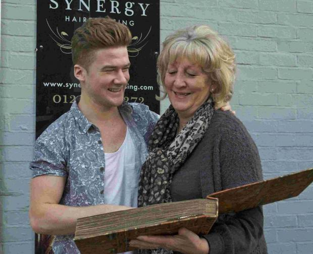 Louis Glover with Truda Clarke who used to work for Louis' grandfather