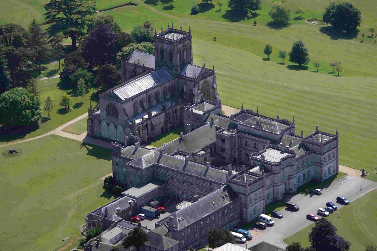 IDYLLIC: An aerial view of the school