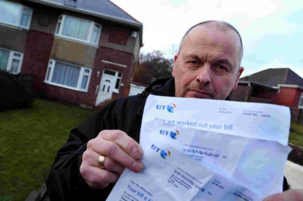 APOLOGY: Brian Witherington, who has received bills from BT over line rental despite his mothers' passing away