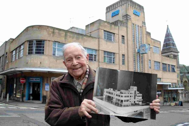 ARCHITECT: 102-year-old Lawrence Squires was a junior architect involved with the design of the Echo offices in 1933-34. Lawrence re-visits the building for the first time in many years