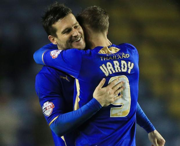 STAR DUO: Foxes strikers David Nugent and Jamie Vardy