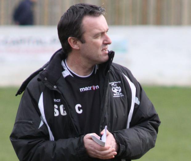 Bournemouth Echo: NO EXCUSES: Wimborne Town boss Steve Cuss