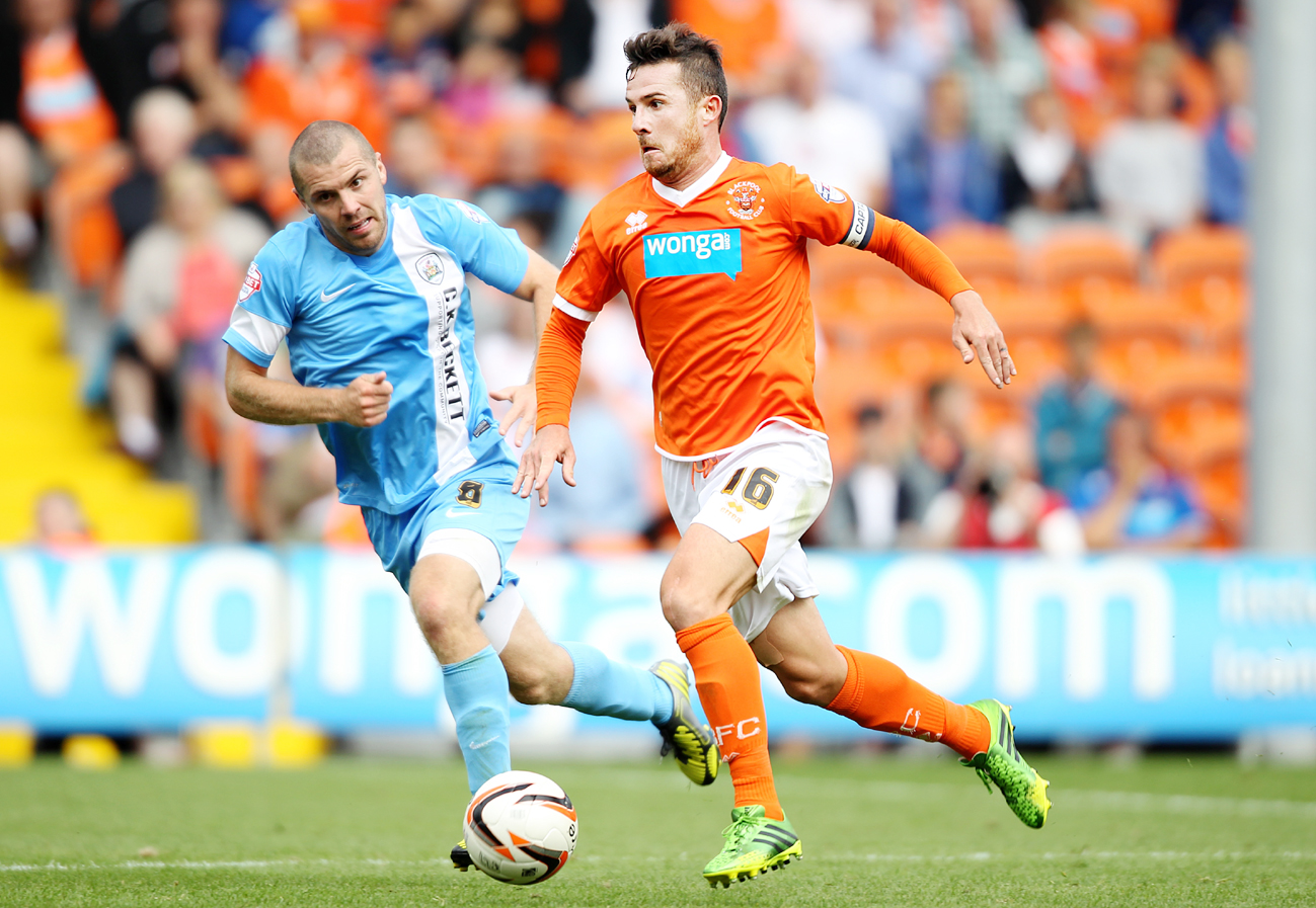 CARETAKER-BOSS: Barry Ferguson in action for Blackpool