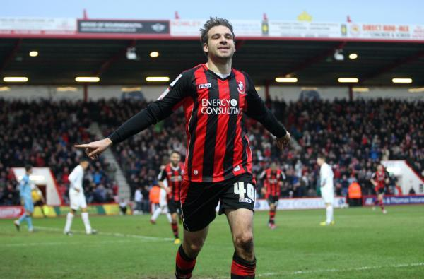 MAKING A POINT: AFC Bournemouth striker Brett Pitman